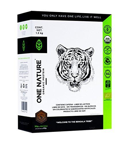 One Nature 1.3 kg Chocolate Proteína Vegana En Polvo Certificada 100% Vegetal