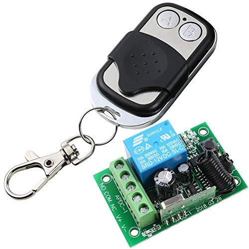 UHPPOTE 433MHz 1-Channel Wireless Remote Control Switch & Receiver ()