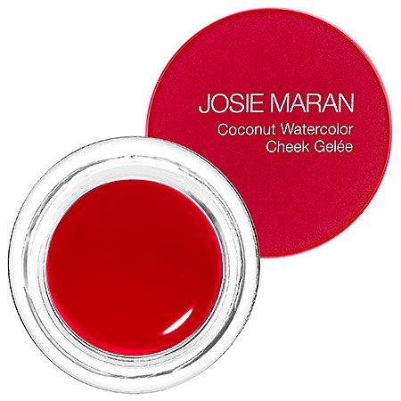 Josie Maran Coconut Watercolor Cheek Gelee (Full (.18oz/5.1g), Getaway Red) Red Blush