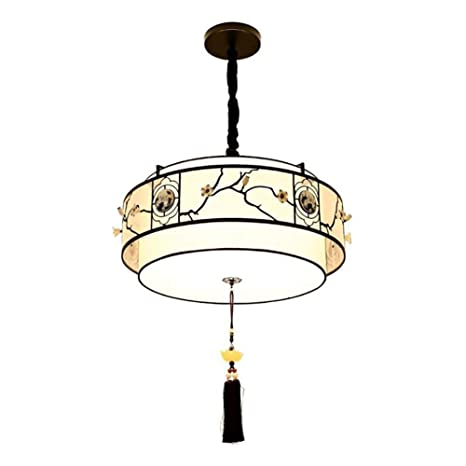 Stilo chino Lámpara de techo, E27 Enchufe Redondo Lámpara de ...