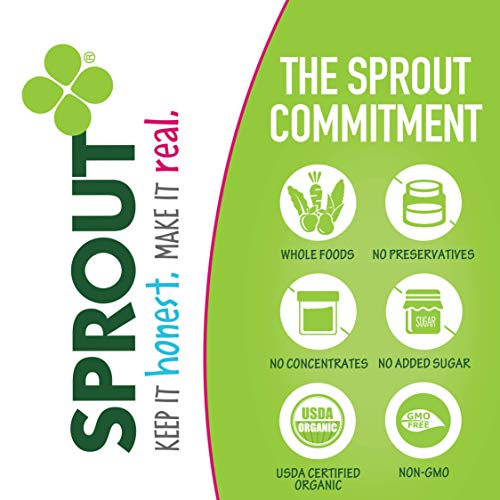 519EoNiJveL - Sprout Organic Baby Food Pouches Stage 3, Organically Sourced Meat And Plant Protein Variety Sampler 8 Flavor, 4 Ounce Pouches (Pack Of 12)