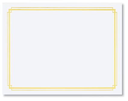 amazon com white specialty certificates 50 count blank gold foil