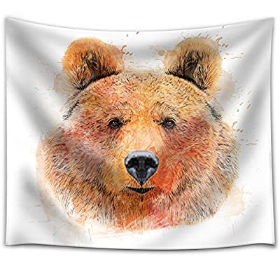 Fun and Colorful Splattered Watercolor Grizzly Bear, Original Creation, Delightful Handicraft