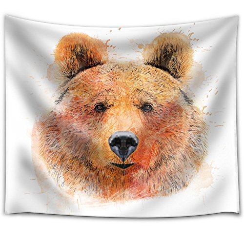 Fun and Colorful Splattered Watercolor Grizzly Bear
