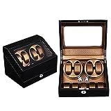 KAIHE-BOX Luxury PU Single 4+5 Watch Winder (5 color ) Display Box Case [100% Handmade] , 1