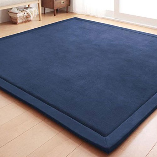 OLIVE US-Japanese Non-slip Soft Memory Foam Home Bedroom Floor Mat Rug CarpetGOOD(blue) by OLIVE US