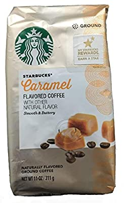 Pack of 2, Starbucks Caramel Flavored Ground Coffee - 11 oz