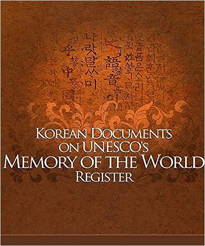 Korean Documents on UNESCO's memory of the WORLD Register