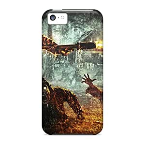 Protective Tpu Case With Fashion Design For Iphone 5c (cod World At War)