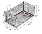 Ejoyfuture Humane Rat Cage Trap for Rats and Mice or Small Animasl,Rat Mouse Mice Chipmunk Trap for Indoor and Outdoor