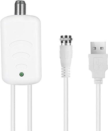 leegoal TV Antena Amplificador de señal Booster, HDTV Antena Amplificador de señal de televisión HDTV TV con los Kits de Fuente de alimentación USB: Amazon.es: Hogar