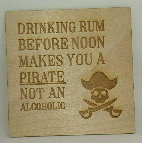 Tarjeta de pirata - Feliz cumpleaños - Tarjeta de madera ...