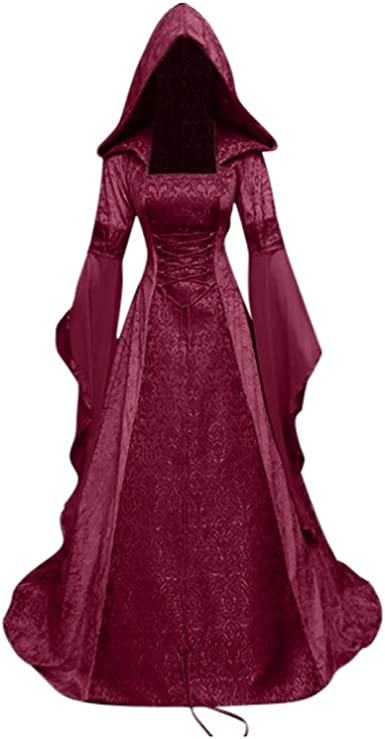 Allegorly Femmes Robes Medievale Manches Longues Parti Costume Deguisements Halloween De Mariee Gothique Robe Robe Medievale Femme Renaissance Costume Robes Longues Amazon Fr Vetements Et Accessoires