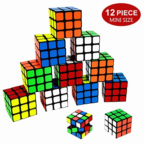 Party Puzzle Toy,12 Pack Mini Cubes Set Party Favors Cube Puzzle,Original Color 1.18