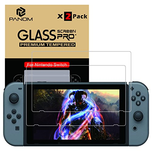 Price comparison product image Panom 2017 Nintendo Switch Tempered Glass Screen Protector 2 packs