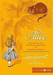 Alice: edição bolso de luxo: Aventuras de Alice no País das Maravilhas & Através do Espelho e o que Alice