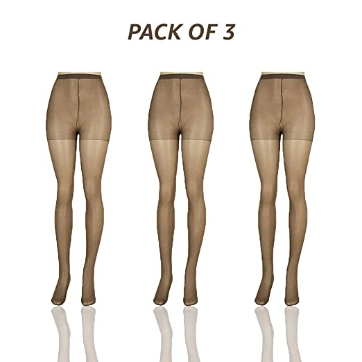 a4cff2765755d Sheer Pantyhose for Women Plus Size - Colored Tights - Pack of 3 by Lissele  at Amazon Women's Clothing store: