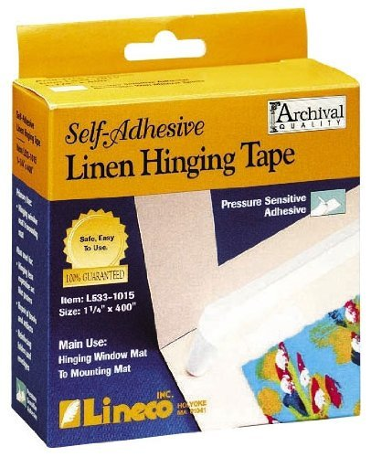 Price comparison product image Lineco Self Adhesive Linen Hinging Tape 1.25 in. x 35 ft. white linen tape (2,  White)