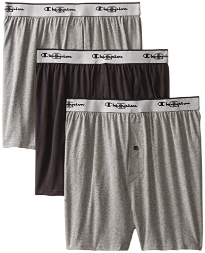 k Knit Boxer, Gray/Black, Medium ()