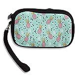 CMTRFJ Unisex Wallet for Woman Ladies -Colorful Pineapples Purse Bag Men Gentlemen