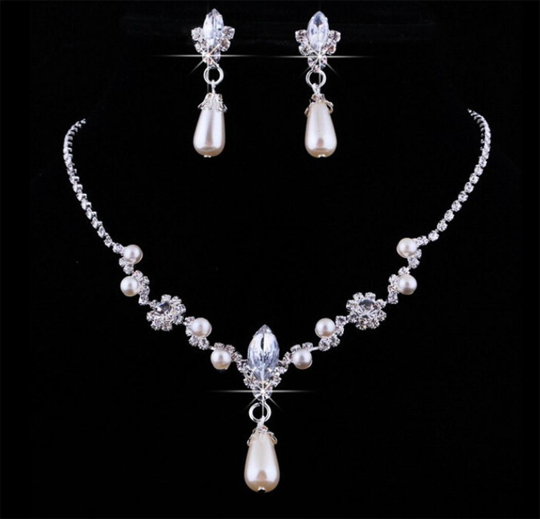 GYJUN Set di gioielli bianco europeo (Orecchini & Collane)
