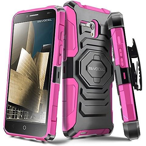 Evocel Alcatel OneTouch Fierce XL [New Generation] Rugged Holster Dual Layer Case [Kickstand][Belt Swivel Clip] For Alcatel OneTouch Fierce XL (2015 Release), Pink (Evocel Case Alcatel)