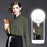 Selfie Ring Light,[Advaka] Rechargeable 36 LED Ring Light Clip On Phone Ring Light for iPhone X/7/8 Plus,iPad,Samsung Galaxy S8/S7/S6 Edge,Sony,Smart Phone Camera White