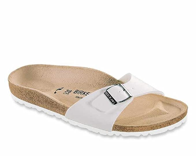 e8c31b8cb38 Image Unavailable. Image not available for. Colour  Ladies Birkenstock  MADRID Flat Sandals with Adjustable Buckle ...