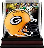 Aaron Rodgers Green Bay Packers Autographed Riddell Mini Helmet with Deluxe Mini Helmet Case - Fanatics Authentic Certified