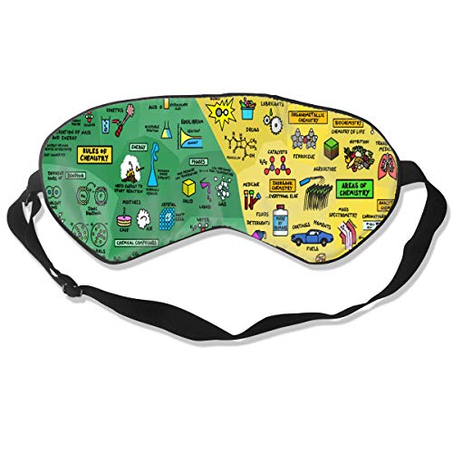 Custom Sleeping Mask Science Infographics Breakdown Adjustable Breathable Sleep Mask/Sleeping Eyes Mask/Sleep Eyes Mask/Eyeshade/Blindfold -
