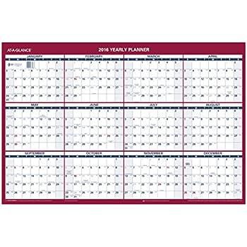 amazon com at a glance wall calendar 2016 erasable vertical