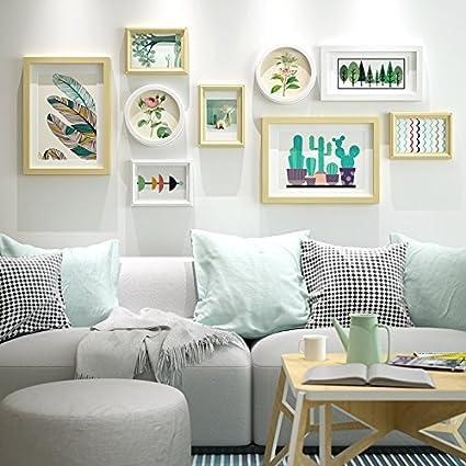 Marco de fotos HJKY conjunto salón minimalista cuadros de pared de ...