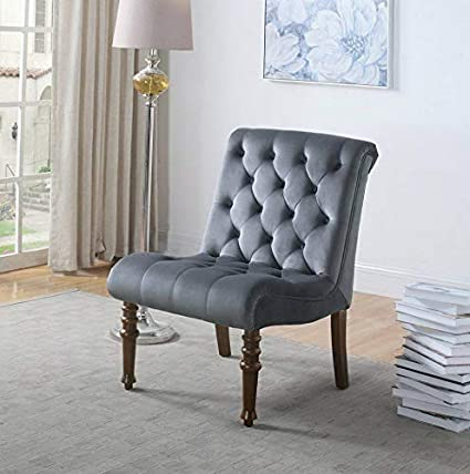 Amazon.com: Hebel Fremont Upholstered Tufted Armless Accent ...