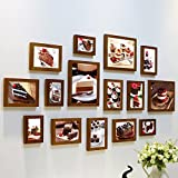 Home@Wall photo frame Restaurant Decorative ,Paintings Cake Shop   Cafe Painting Relax It Pastry Combination Frame Photo Wall Sets of 15 ( Color : #7 )