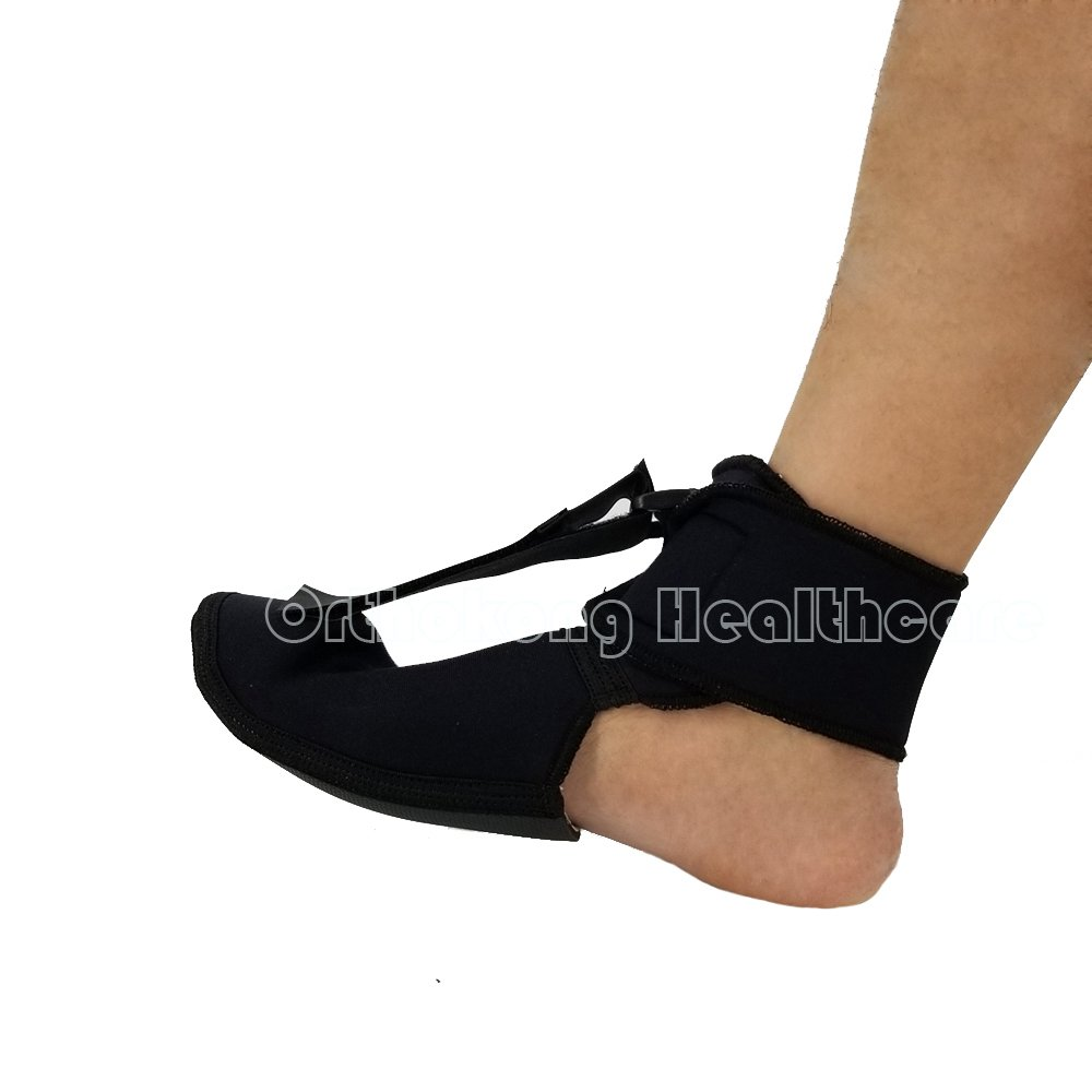 Plantar FXT Night Splint Black Night Time Relief for Plantar Fasciitis Medical Ankle Support Treat Heel Pain Best Foot Pain Relief Orthosis Healthcare Products (Medium)