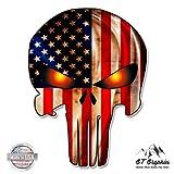 Punisher Skull American Flag - 20'' - Large Size Vinyl Sticker - for Truck Car Cornhole Board