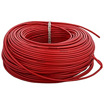 anchor insulated copper pvc cable 2 5 sq mm wire red amazon in rh amazon in