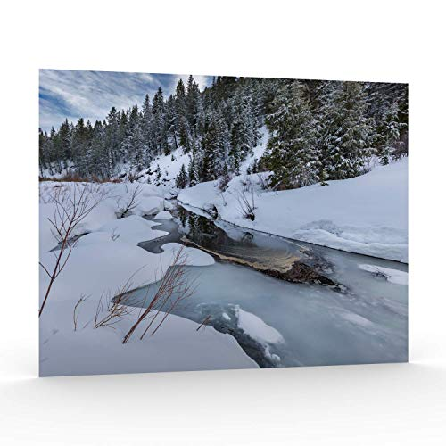 Utah Nature Photography 11x14 Inch Unframed Nature Poster Print Mountain Creek with Ice and Snow