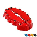 Meiyiu 3D Brake Caliper Cover Kits Bright Color Universal Style Disc Front and Rear Red 2Pcs
