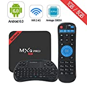 #LightningDeal 66% claimed: [Pure version] Leelbox MXQ PRO Android 6.0 TV Box with Mini Keyboard ,2017 Android TV Box Andriod 6.0/64Bit/Amlogic S905X Quad Core 1+8GB tv box