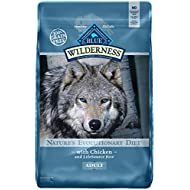 Blue Buffalo Wilderness High Protein Grain Free, Natural Adult Dry Dog Food, Chicken 24-lb