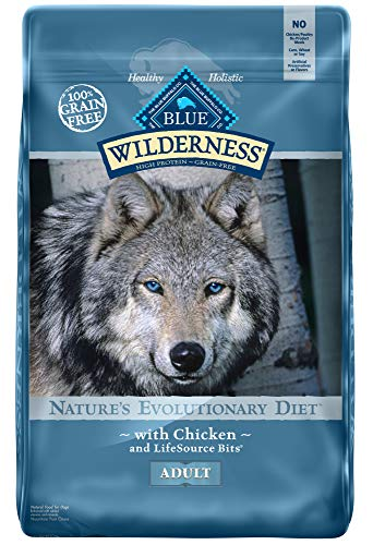 Blue Buffalo Wilderness High Protein Grain Free, Natural Adult Dry Dog Food, Chicken 11-lb ()