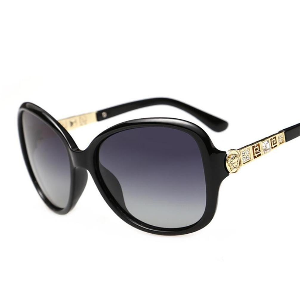ZHLONG Klassische Mode polarisiert Sonnenbrille Frauen große Rahmen Sonnenbrillen , 1