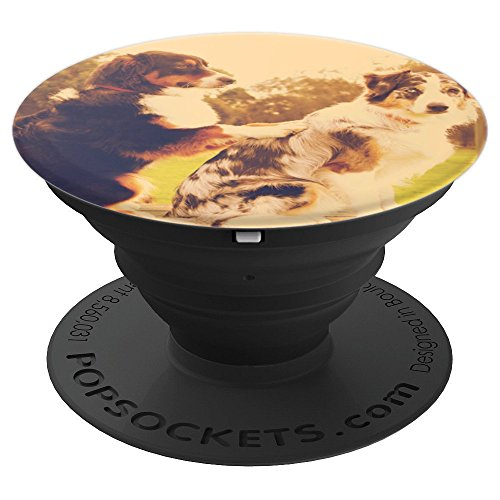 Australian Shepherd Dog Breed | Aussie Lover Christmas Gift - PopSockets Grip and Stand for Phones and Tablets ()
