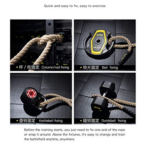 Battle Rope Diameter 38 mm UFC Fitness Training Rope Strength Training Physical Training Full Body Fitness 9M / 12M / 15M (Size : 15m) by BAI-Fine (Image #5)