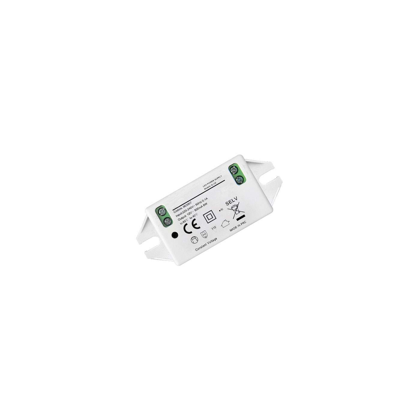 Micro Alimentatore Driver Per Led 12v Dc 6w 500ma Power Supply