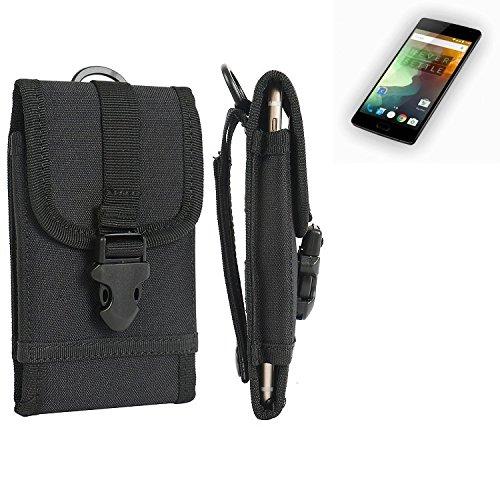 bolsa del cinturón / funda para OnePlus 2, negro   caja del teléfono cubierta protectora bolso - K-S-Trade (TM)