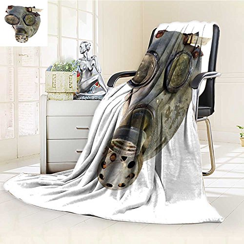 "Luxury Double-sides Reversible Fleece Blanket old gas mask isolated on white background Couch Blanket,Travelling and Camping Blanket(60""x 50"")"