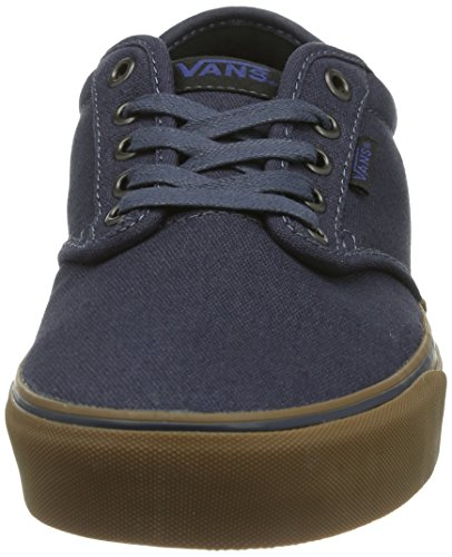 VANS Men's Atwood Skate Shoes, Durable and Comfortable Low-Top Lace-Up Style with Padded Tongue and Collar for Extra Comfort Navy/Gum