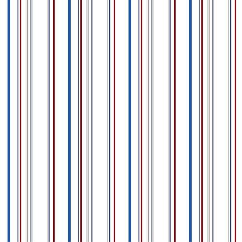 York Wallcoverings Walt Disney Kids II Wide Multi Stripe Wallpaper Memo Sample, 8-Inch x 10-Inch, Red/White/Blue/Grey